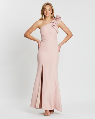 Bariano Sue Frill Shoulder Gown