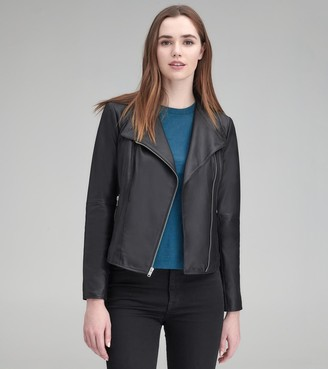 Andrew Marc Kendall Feather Leather Jacket