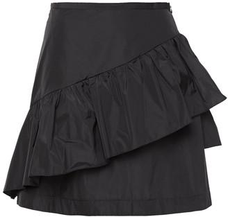 See by Chloe Ruffled Taffeta Mini Skirt