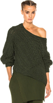 Baja East Wool Cashmere Cable Sweater