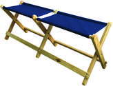 """Wood & Canvas Folding Bench """"Voyager """""""