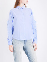 Rails Lizzi striped cotton-blend shirt