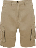 Yours Clothing BadRhino Plus Size Mens Trousers Stone Cargo Shorts Bottoms Sitich Details