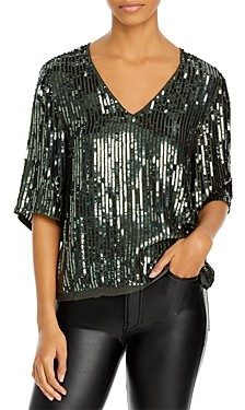 Velvet by Graham & Spencer Karen Sequin Top