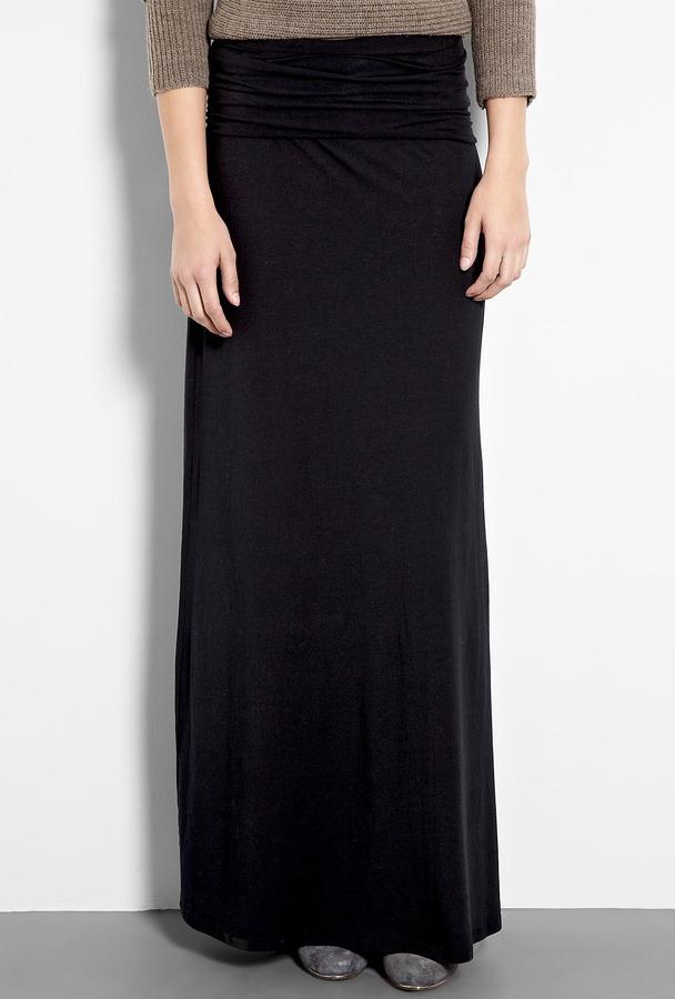 Splendid Black Jersey Maxi Skirt