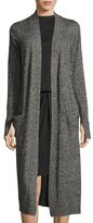 Halston Long-Sleeve Open-Front Duster Cardigan