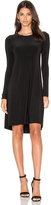Norma Kamali Long Sleeve Swing Dress