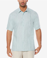 Cubavera Men's Cross-Dye 100% Linen Slub Shirt