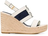 Tory Burch suede panel sandals