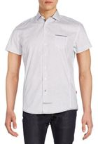 English Laundry Regular-Fit Neat-Print Cotton Sportshirt