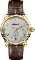 Ingersoll Men's Quartz Stainless Steel and Leather Casual Watch, Color:Brown (Model: I00803)