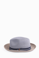 Grevi Stripe Bi Colour Straw Hat