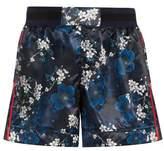 The Upside Garda Cherry Blossom-print shorts