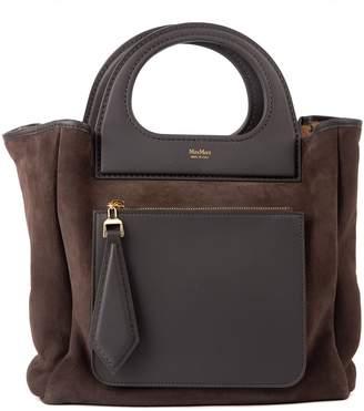 Max Mara Reversible Leather & Eco-fur Bag