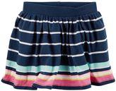 Carter's Toddler Girl Neon Striped Skort