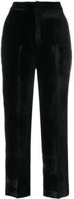 Pt01 wide leg velvet trousers