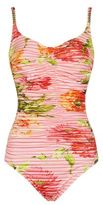 Maryan Mehlhorn Floral Gathered Swimsuit