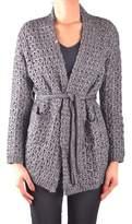 Sun 68 Women's Grey Cotton Cardigan.