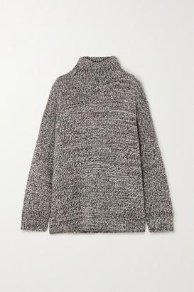 Co Oversized Melange Merino Wool Turtleneck Sweater - Light brown
