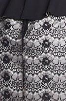 Max & Cleo Mixed Media Peplum Dress