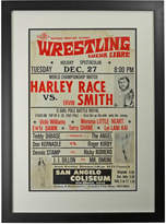 Rejuvenation Framed Lucha Libre Wrestling Poster Race v Smith