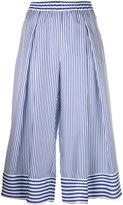 P.A.R.O.S.H. striped cropped trousers - women - Silk - M
