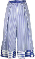 P.A.R.O.S.H. striped cropped trousers - women - Silk - XXL