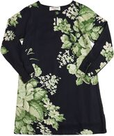 Nice Things Floral Print Peached Viscose Crepe Dress