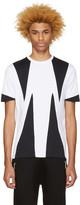 Neil Barrett White Opposite Modernist T-Shirt
