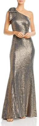 Eliza J Sequin One-Shoulder Mermaid Gown