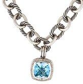David Yurman Blue Topaz & Diamond Pendant Necklace