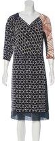 Dries Van Noten Silk Embellished Dress