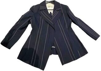 Cédric Charlier Blue Linen Jacket for Women