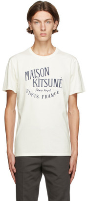 MAISON KITSUNÉ Off-White Palais Royal Classic T-Shirt