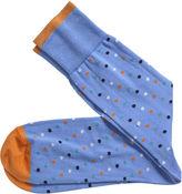 Johnston & Murphy Diagonal Dot Socks
