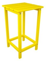 Polywoodâ® Long Island Plastic Side Table POLYWOODA Color: Lemon