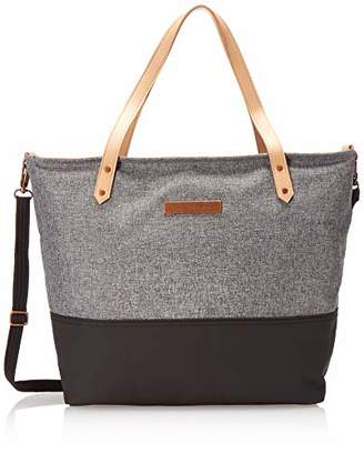 Petunia Pickle Bottom Downtown Tote Baby Changing Bag with Change Mat and Wipes Case - Graphite/Black