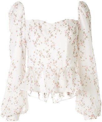 We Are Kindred Alice floral bustier blouse