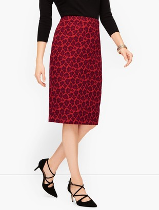 Talbots Jacquard Animal Print Pencil Skirt