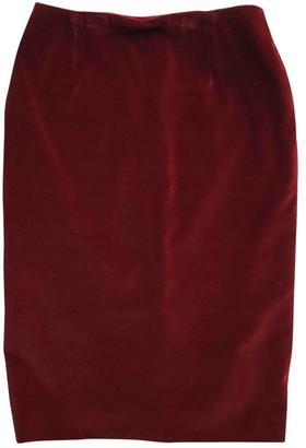 Christian Dior Burgundy Velvet Skirts
