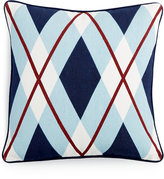 "Tommy Hilfiger Buckaroo Oversized Argyle 18"" Square Decorative Pillow"