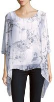 Saks Fifth Avenue Floral Print Silk Poncho