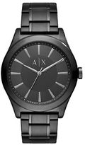 Armani Exchange Black Dial Black PVD Stainless Steel Watch