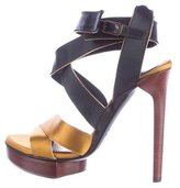 Lanvin Satin Multistrap Sandals w/ Tags