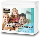 Utopia Bedding Premium Bed Bug Proof Box Spring Encasement - Waterproof Zippered Box Spring Cover - Ultimate Protection Against Insects, Dust Mites - Knitted Box Spring Protector (Full)