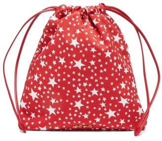 Miu Miu Star-print Drawstring Pouch - Red White