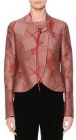 Giorgio Armani Slim-Fit Cutaway-Hem Crop Jacket, Red