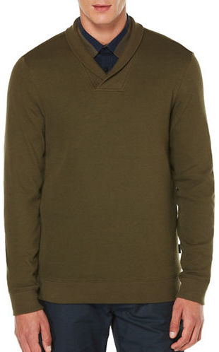 Perry Ellis Crossover V-Neck Knit Sweater