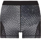 Nike Hypercool Dri-fit Mesh-paneled Printed Stretch Shorts - Anthracite