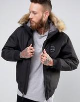Timberland Hooded Short Parka Detachable Faux Fur Trim